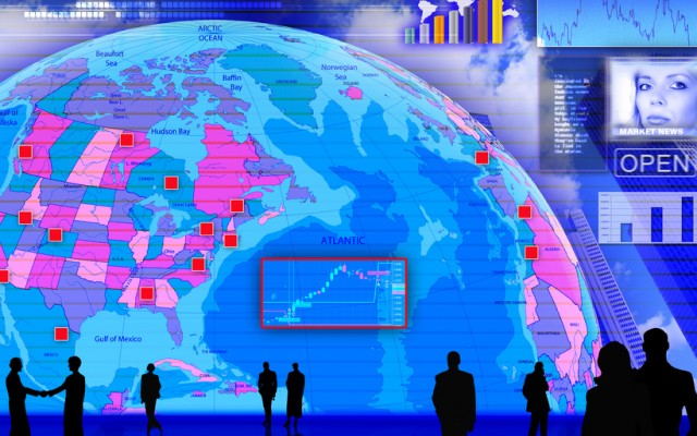 Abstract Foreign currency exchange market scene